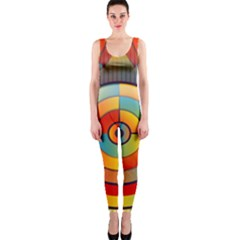 Abstract Pattern Background OnePiece Catsuit