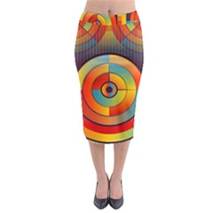 Abstract Pattern Background Midi Pencil Skirt