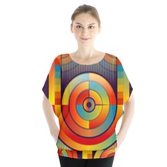 Abstract Pattern Background Blouse