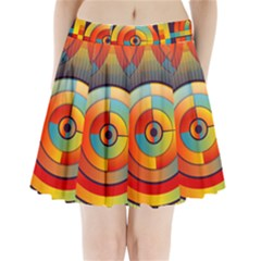 Abstract Pattern Background Pleated Mini Skirt