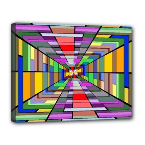 Art Vanishing Point Vortex 3d Canvas 14  x 11