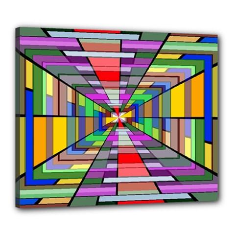 Art Vanishing Point Vortex 3d Canvas 24  X 20