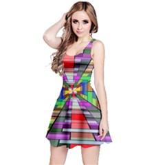 Art Vanishing Point Vortex 3d Reversible Sleeveless Dress