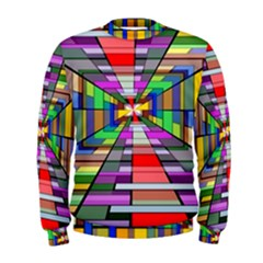 Art Vanishing Point Vortex 3d Men s Sweatshirt