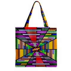 Art Vanishing Point Vortex 3d Zipper Grocery Tote Bag