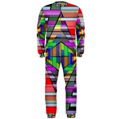Art Vanishing Point Vortex 3d OnePiece Jumpsuit (Men)