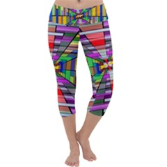 Art Vanishing Point Vortex 3d Capri Yoga Leggings