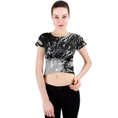 Art About Ball Abstract Colorful Crew Neck Crop Top