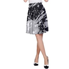 Art About Ball Abstract Colorful A Line Skirt