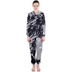 Art About Ball Abstract Colorful Hooded Jumpsuit (ladies)