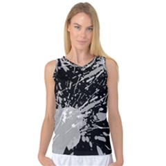 Art About Ball Abstract Colorful Women s Basketball Tank Top
