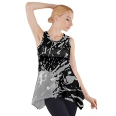 Art About Ball Abstract Colorful Side Drop Tank Tunic