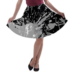 Art About Ball Abstract Colorful A-line Skater Skirt