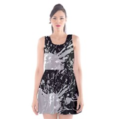 Art About Ball Abstract Colorful Scoop Neck Skater Dress