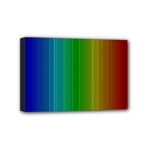 Spectrum Colours Colors Rainbow Mini Canvas 6  X 4