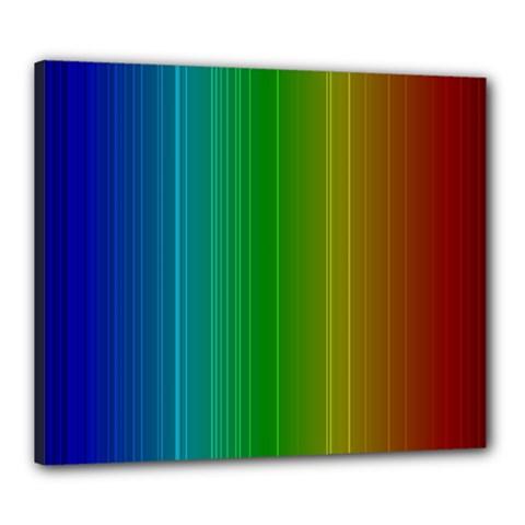 Spectrum Colours Colors Rainbow Canvas 24  X 20