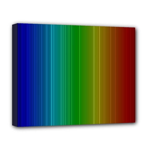 Spectrum Colours Colors Rainbow Deluxe Canvas 20  x 16