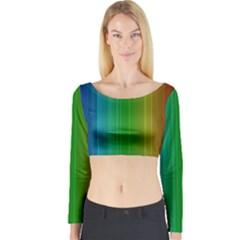 Spectrum Colours Colors Rainbow Long Sleeve Crop Top