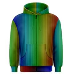 Spectrum Colours Colors Rainbow Men s Zipper Hoodie