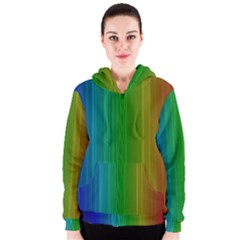 Spectrum Colours Colors Rainbow Women s Zipper Hoodie