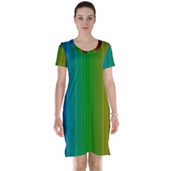 Spectrum Colours Colors Rainbow Short Sleeve Nightdress