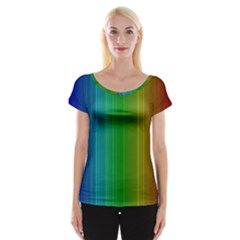 Spectrum Colours Colors Rainbow Women s Cap Sleeve Top
