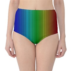 Spectrum Colours Colors Rainbow High-Waist Bikini Bottoms