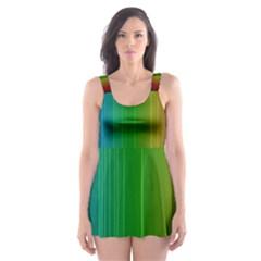 Spectrum Colours Colors Rainbow Skater Dress Swimsuit