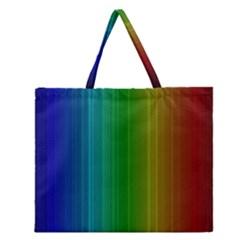Spectrum Colours Colors Rainbow Zipper Large Tote Bag