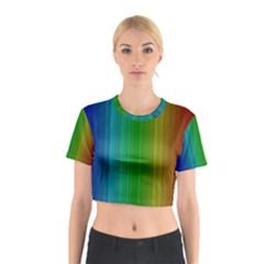 Spectrum Colours Colors Rainbow Cotton Crop Top