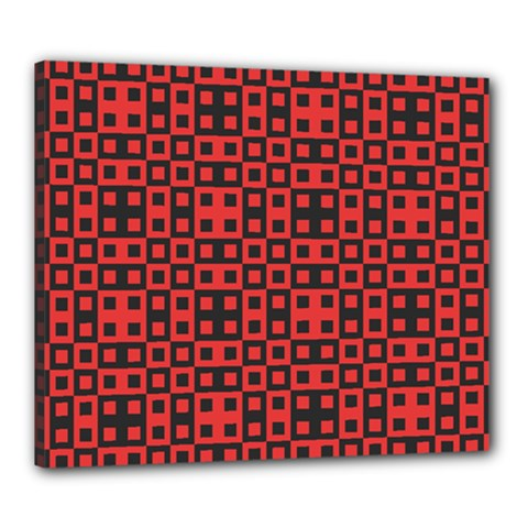 Abstract Background Red Black Canvas 24  X 20
