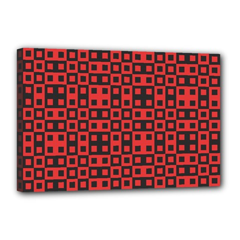 Abstract Background Red Black Canvas 18  x 12