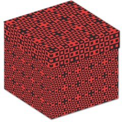 Abstract Background Red Black Storage Stool 12
