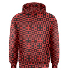 Abstract Background Red Black Men s Pullover Hoodie