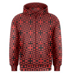 Abstract Background Red Black Men s Zipper Hoodie