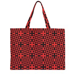 Abstract Background Red Black Large Tote Bag