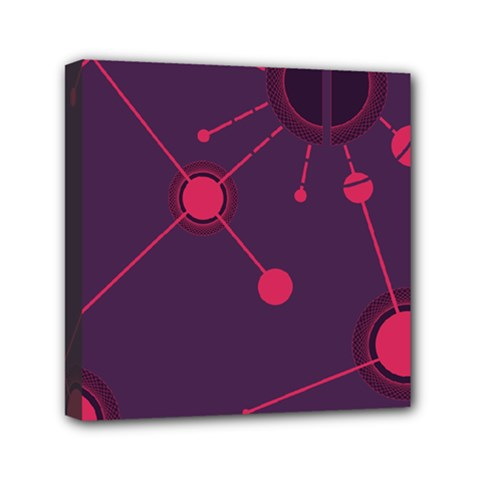 Abstract Lines Radiate Planets Web Mini Canvas 6  x 6