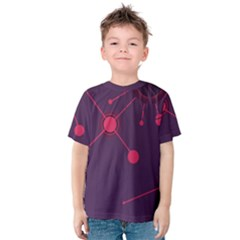 Abstract Lines Radiate Planets Web Kids  Cotton Tee