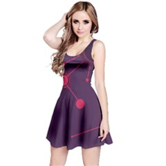 Abstract Lines Radiate Planets Web Reversible Sleeveless Dress