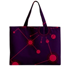 Abstract Lines Radiate Planets Web Mini Tote Bag