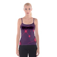 Abstract Lines Radiate Planets Web Spaghetti Strap Top