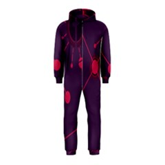 Abstract Lines Radiate Planets Web Hooded Jumpsuit (Kids)