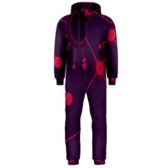 Abstract Lines Radiate Planets Web Hooded Jumpsuit (men)
