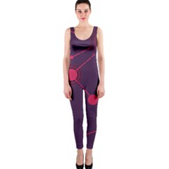 Abstract Lines Radiate Planets Web OnePiece Catsuit