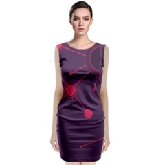 Abstract Lines Radiate Planets Web Classic Sleeveless Midi Dress