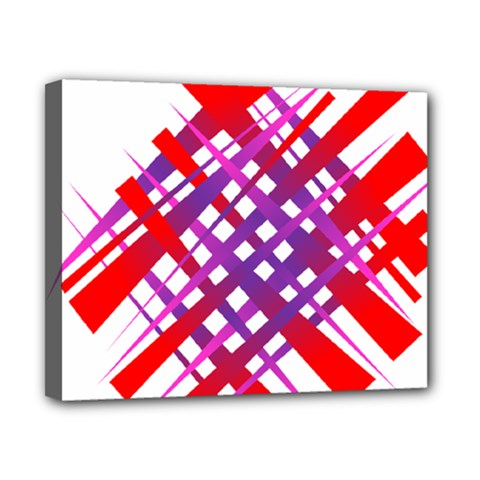 Chaos Bright Gradient Red Blue Canvas 10  x 8