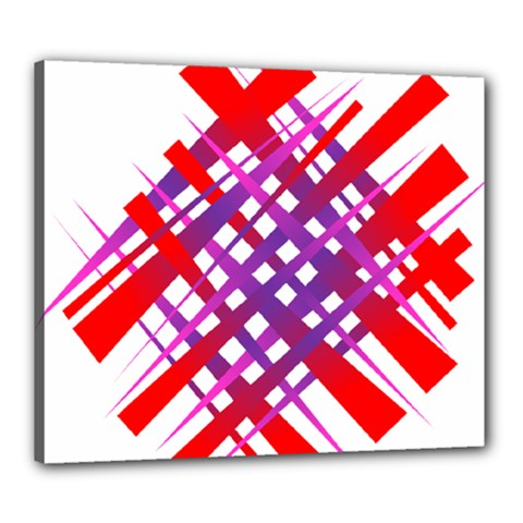 Chaos Bright Gradient Red Blue Canvas 24  x 20