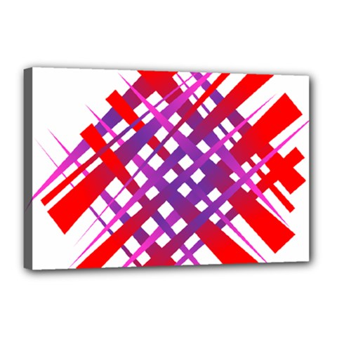 Chaos Bright Gradient Red Blue Canvas 18  X 12