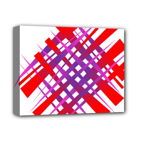 Chaos Bright Gradient Red Blue Deluxe Canvas 14  x 11