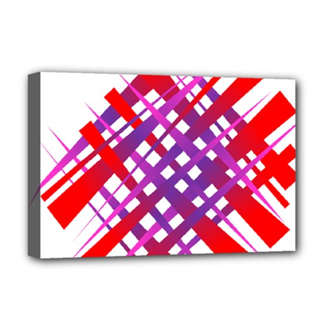 Chaos Bright Gradient Red Blue Deluxe Canvas 18  x 12